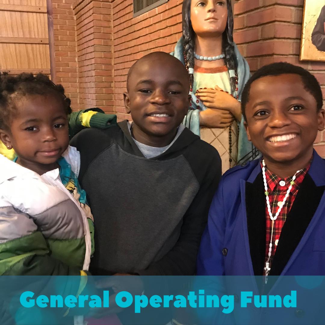 3 children smiling inside a church